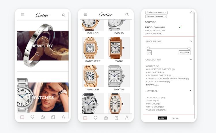 Cartier in-store mobile app